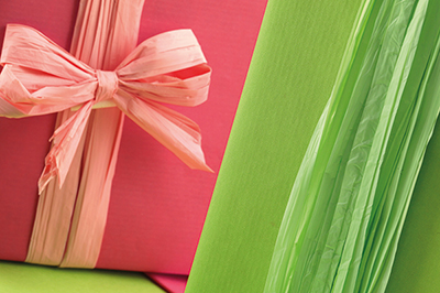 Bobine e fogli incarto regalo e confezioni