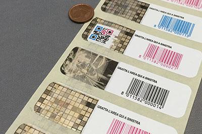 Etichette anticontraffazione registratori cassa